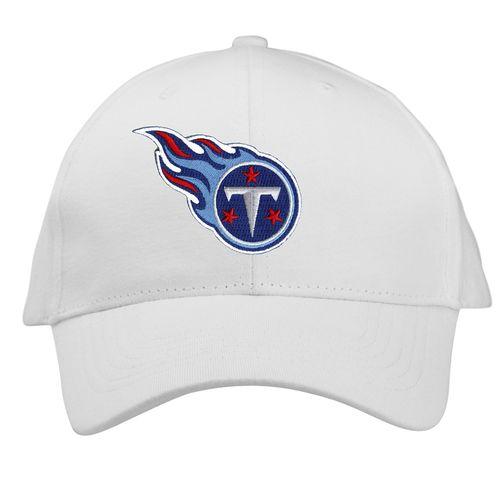 New Era Tennessee Titans Flame Logo Adjustable Hat (White)