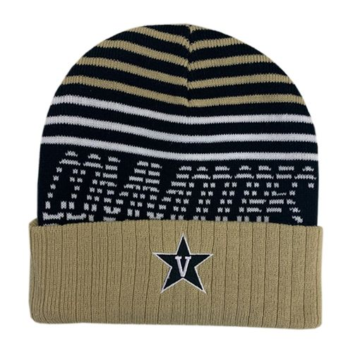 Vanderbilt Commodores Cuffed Knit Hat (Black/White)