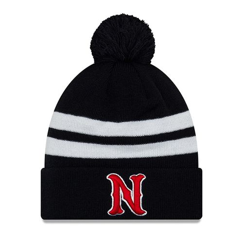 New Era Nashville Sounds Logo Cuff Pom Knit Hat (Navy/White)