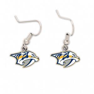 Nashville Predators Wire Logo Earrings