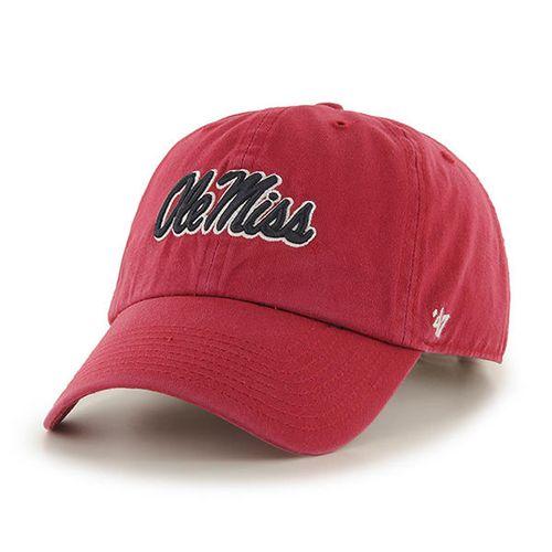 '47 Brand Ole Miss Rebels Clean Up Adjustable Hat (Red)