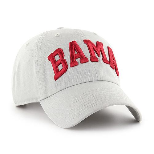 '47 Brand Alabama Crimson Tide Script Clean Up Adjustable Hat (Grey)