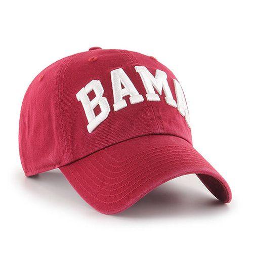 '47 Brand Alabama Crimson Tide Script Clean Up Adjustable Hat (Razor Red)