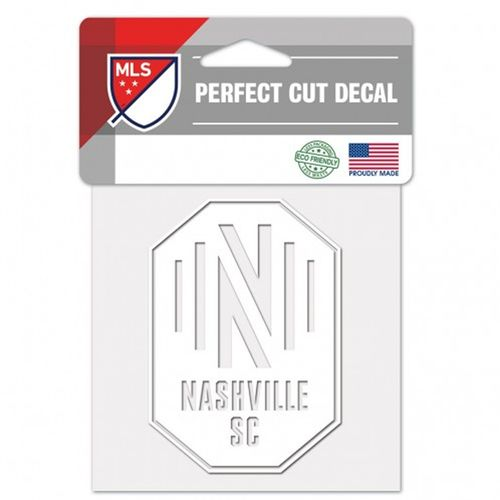 Nashville Soccer Club Perfect Cut Decal (White)