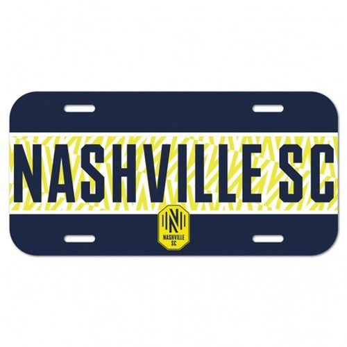 Nashville Soccer Club Plastic License Plate