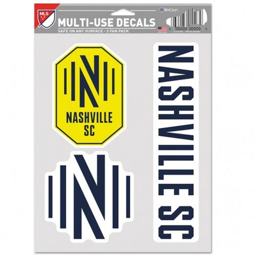 Nashville Soccer Club 3 Decal Fan Pack