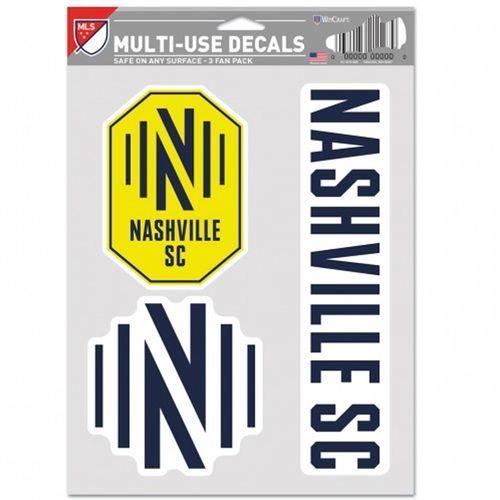 Nashville Soccer Club 3 Decal Fan Pack