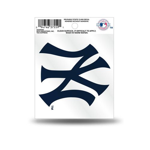 New York Yankees Small Static Cling Decal