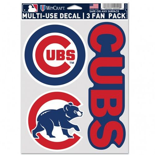 Chicago Cubs Fan 3 Pack Decals
