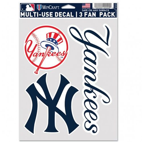 New York Yankees Fan 3 Pack Decals