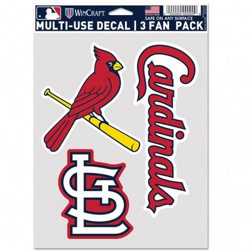St. Louis Cardinals Fan 3 Pack Decals