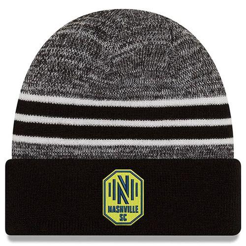 New Era Nashville Soccer Club Marbled Cuff Knit Hat (Navy/Grey)