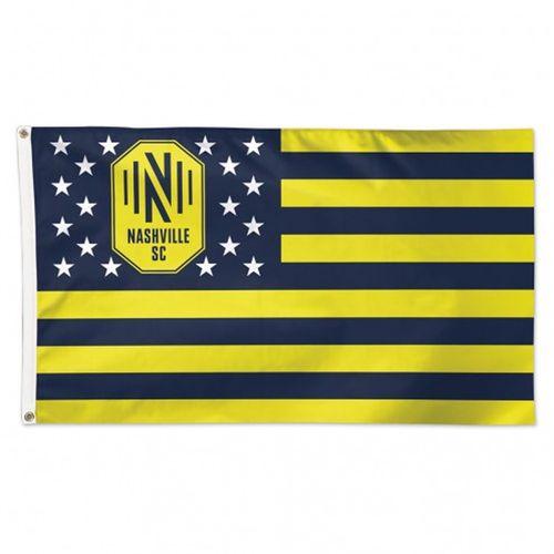 Nashville Soccer Club Deluxe Stripe Flag