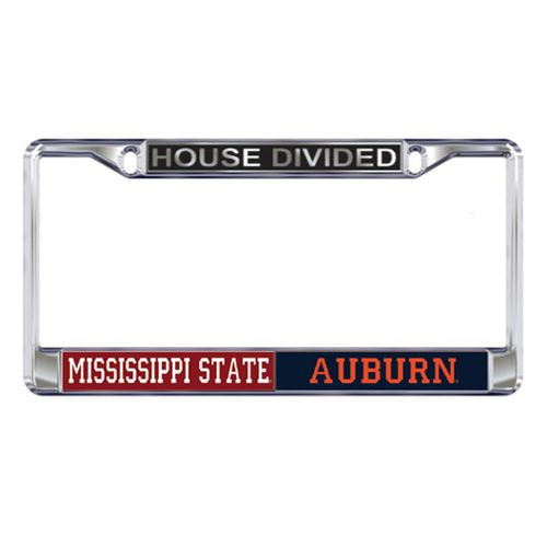 Mississippi State Bulldogs and Auburn Tigers House Divided Frame