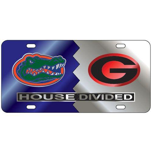 Florida Gators and Georgia Bulldogs House Divided Plate