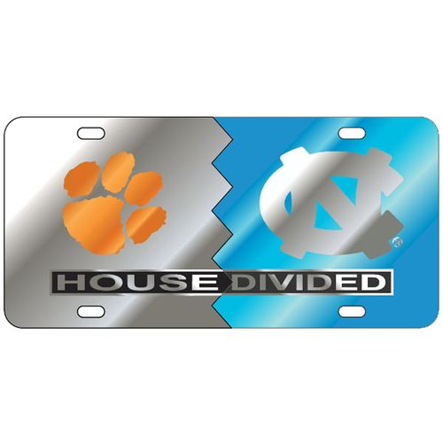 Clemson Tigers and North Carolina Tar Heels House Divided Plate