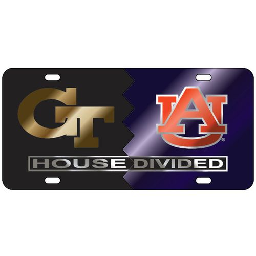 Georgia Tech Yellow Jackets and Auburn Tigers House Divided Plate