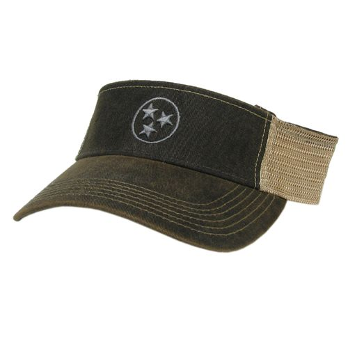 Legacy Tri-Star Adjustable Visor (Black/Grey)