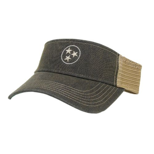 Legacy Tri-Star Adjustable Visor (Navy/White)