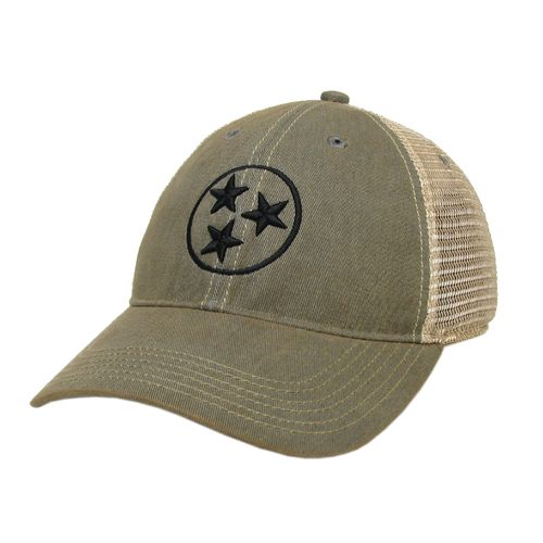Legacy Tri-Star Off Road Trucker Adjustable Hat (Grey/Black)