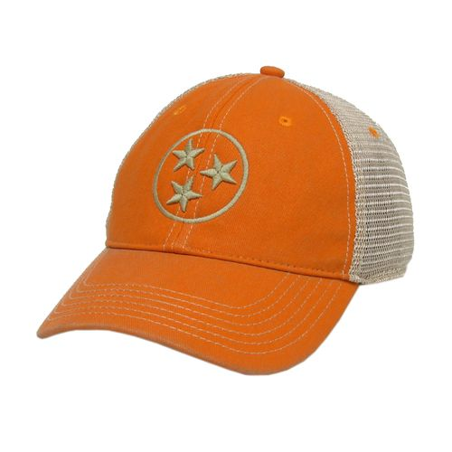 Legacy Tri-Star Off Road Trucker Adjustable Hat (Orange/White)