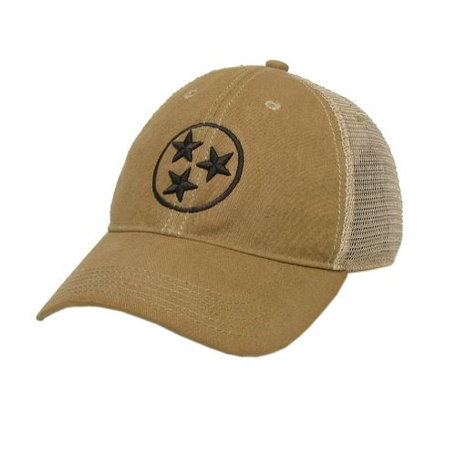 Legacy Tri-Star Off Road Trucker Adjustable Hat (Khaki/Brown)