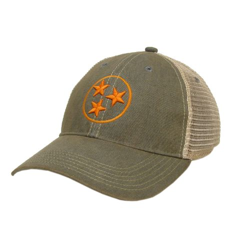 Legacy Tri-Star Off Road Trucker Adjustable Hat (Grey/Orange)