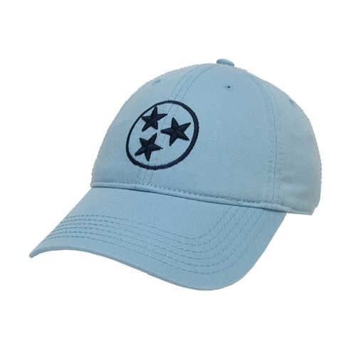 Legacy Tri-Star Relax Twill Adjustable Hat (Light Blue/Navy)