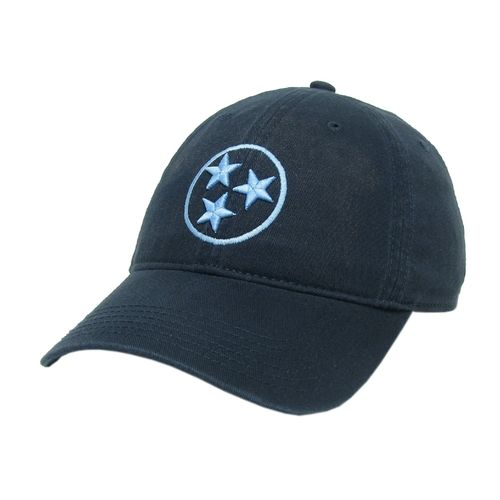 Legacy Tri-Star Relax Twill Adjustable Hat (Navy/Light Blue)