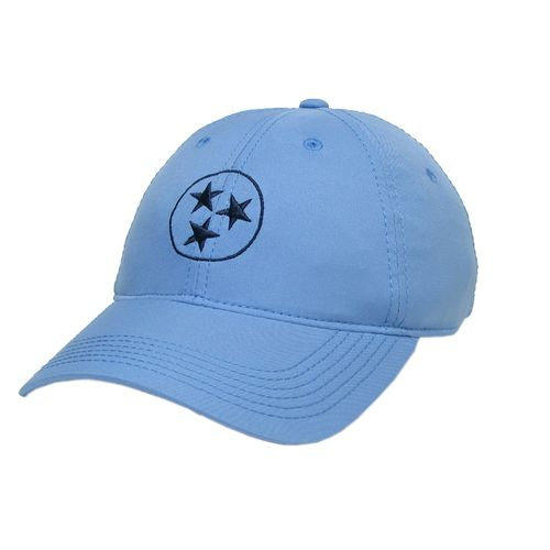 Legacy Tri-Star Cool-Fit Adjustable Hat (Light Blue/Navy)