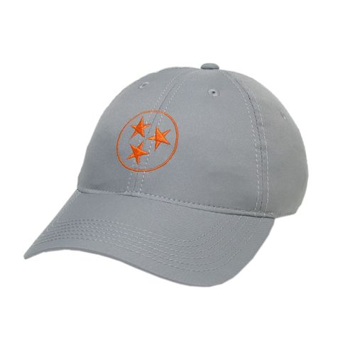 Legacy Tri-Star Cool-Fit Adjustable Hat (Grey/Orange)