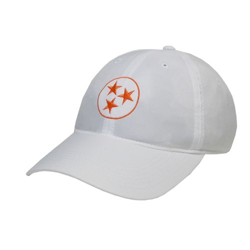 Legacy Tri-Star Cool-Fit Adjustable Hat (White/Orange)