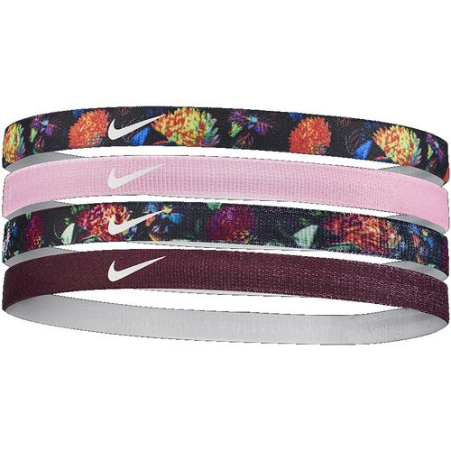 Nike Girl's 4-Pack Headbands (Black/Pink)