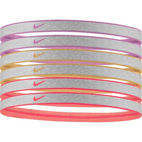 Nike 6-Pack Headbands (Plum/White)