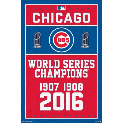 Chicago Cubs Champion Dates Poster