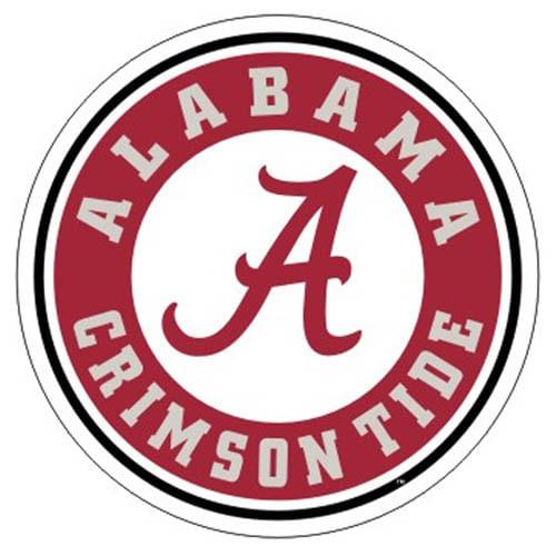 "Alabama Crimson Tide Circle 12"" Logo Decal"