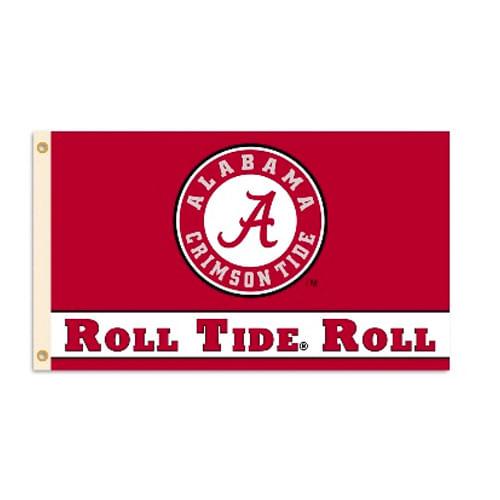 Alabama Crimson Tide Circle Logo Flag