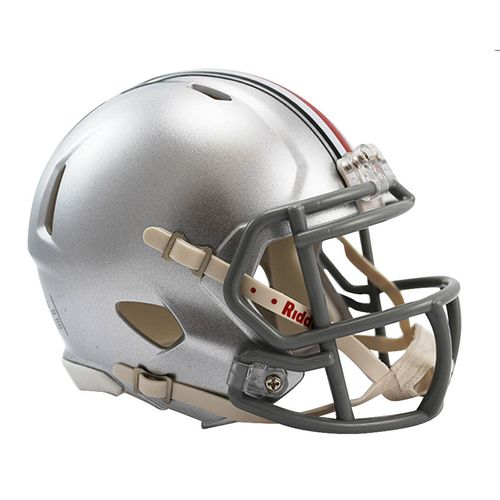 Ohio State Buckeyes Mini Speed Helmet (Silver)