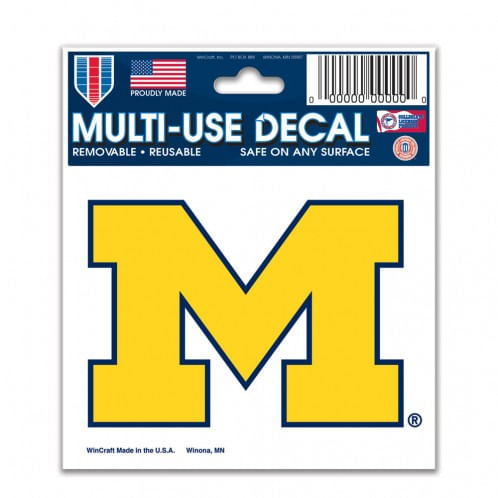 Michigan Wolverines Multiple Use Decal (Yellow)