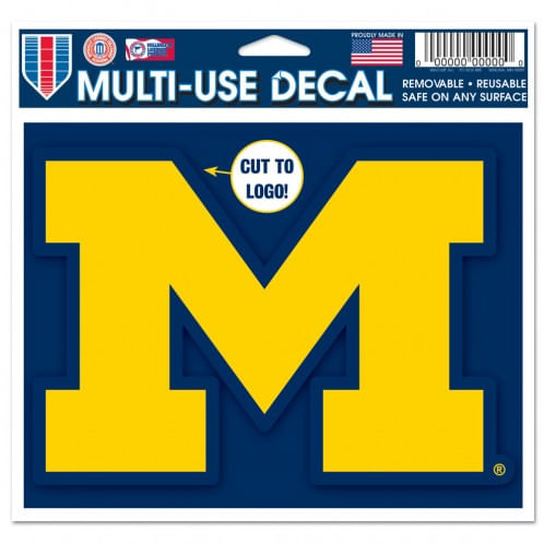 Michigan Wolverines Cut to Logo Multiple Use Decal