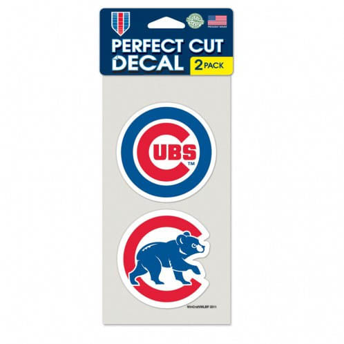 Chicago Cubs 2 pack of Perfect Cut Decals