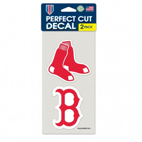 Boston Red Sox Set of Two Die Cut Logo Decals