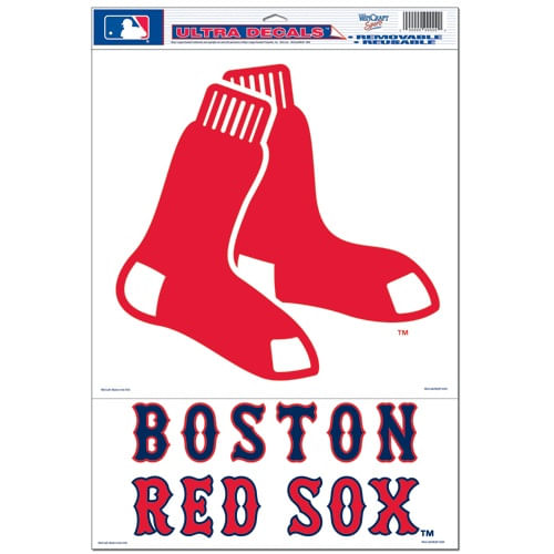 Boston Red Sox 2-piece Sheet of Ultra Decals