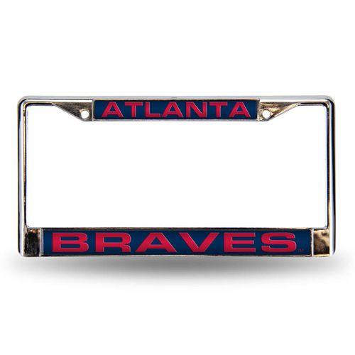 Atlanta Braves Laser Cut Chrome License Plate Frame (Silver)