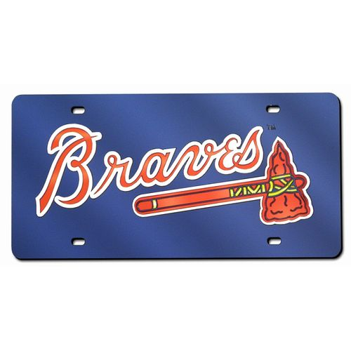 Atlanta Braves Laser-Cut Acrylic Blue License Plate