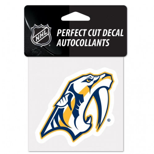 Nashville Predators Logo Diecut Decal (4X4)