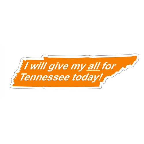 Tennessee Volunteers Give My All Magnet