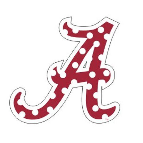 """Alabama Crimson Tide Polka Dot 3"""" """"A"""" Decal"""