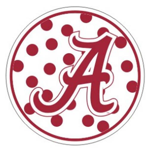"""Alabama Crimson Tide Polka Dot 4"""" Decal"""