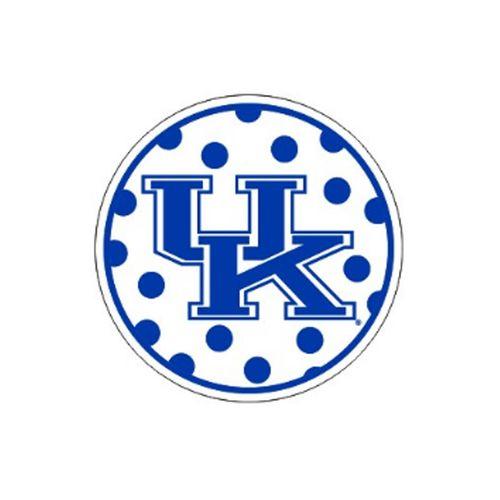 Kentucky Wildcats Round Polka Dot Decal